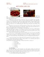 báo cáo thực hành  chế biến mứt đông dâu tây