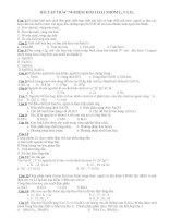 Các bài tập trắc nghiệm kim loại nhóm I và II