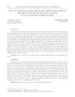 Yếu tố ảnh hưởng đến quyết định chọn dịch vụ hỗ trợ tuyển dụng nhân sự cao cấp của các doanh nghiệp TP. Hồ Chí Minh