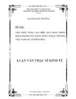 Giải pháp nâng cao hiệu quả hoạt động kinh doanh của ngân hàng ngoại thương Việt Nam sau cổ phần hóa
