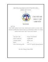 luận văn quản trị kinh doanh Hoàn thiện kiểm toán chu trình bán hàng và thu tiền trong kiểm toán BCTC do Công ty TNHH Kiểm toán PKF Việt Nam thực hiện