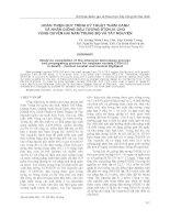 HOÀN THIỆN QUY TRÌNH KỸ THUẬT THÂM CANH VÀ NHÂN GIỐNG ĐẬU TƯƠNG ĐTDH.01 CHO VÙNG DUYÊN HẢI NAM TRUNG BỘ VÀ TÂY NGUYÊN