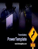 Template PowerPoint  636TGp Course dark ani