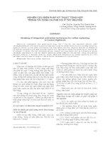 NGHIÊN CỨU BIỆN PHÁP KỸ THUẬT TỔNG HỢP TRONG TÁI CANH CÀ PHÊ VỐI Ở TÂY NGUYÊN