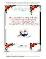 GIÁO ÁN  MÔN TIẾNG VIỆT LỚP 2  TUẦN 26 CHI TIẾT, CỤ THỂ    THEO CHUẨN KIẾN THỨC KĨ NĂNG.