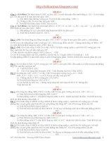 Một số đề kiểm tra chương I hình học 12