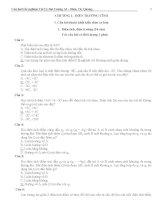 Câu hỏi trắc nghiệm Vật lý đại cương A2_ Điện, Từ, Quang