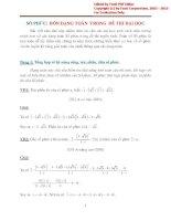 Số phức 4 dạng toán trong đề thi đại học