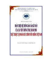 Hoàn thiện hệ thống báo cáo kế toán của các tỉnh , thành phố trực thuộc tập đoàn bưu chính viễn thông Việt Nam