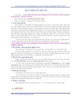 Sáng Kiến Kinh Nghiệm Môn Tiếng Anh 9
