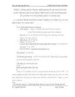luận văn quản trị kinh doanh TỔNG QUAN VỀ ĐẶC ĐIỂM KINH TẾ- KĨ THUẬT VÀ TỔ CHỨC BỘ MÁY QUẢN LÝ HOẠT ĐỘNG SẢN XUẤT KINH DOANH CỦA CÔNG TY CP TẬP ĐOÀN ĐẦU TƯ LONG HẢI