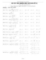 Bài tập trắc nghiệm môn toán cao cấp C1