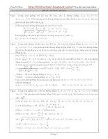 Một số phương pháp và các bài tập về tọa độ đường thẳng