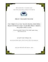 Tài trợ của các ngân hàng thương mại cổ phần Việt Nam để phát triển ngành thủy sản  Luận văn thạc sĩ