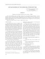 KẾT QUẢ NGHIÊN CỨU TẠO GIỐNG ĐẬU TƯƠNG MỚI TN08