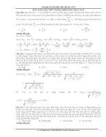 Bài giải chi tiếc phần điện đại học 2012