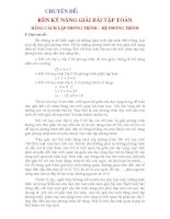 BÀI BÁO CÁO THỰC TẬP- RÈN LUYỆN Ỹ NĂNG GIẢI BÀI TẬP TOÁN BẰNG CÁCH LẬP PHHUOWNG TRÌNH -HỆ PHƯƠNG TRÌNH