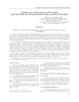 NGHIÊN CỨU TUYỂN CHỌN VÀ PHÁT TRIỂN MỘT SỐ GIỐNG CÂY ĂN QUẢ ÔN ĐỚI (HỒNG, LÊ, ĐÀO) Ở PHÍA BẮC