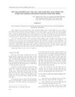 KẾT QUẢ NGHIÊN CỨU TẠO VẬT LIỆU KHỞI ĐẦU CHO CÔNG TÁC CHỌN TẠO GIỐNG CHÈ BẰNG PHƯƠNG PHÁP ĐỘT BIẾN