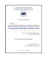 Nâng cao hiệu quả quản lý rủi ro tín dụng tại Ngân hàng Thương mại cổ phần ngoại thương TP.HCM