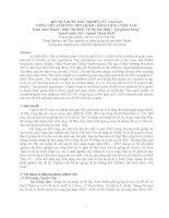 Kết quả bước đầu nghiên cứu lai tạo giống dê lai hướng thịt (Boer x Bách thảo ) Việt Nam