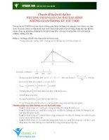 Chuyên đề phương pháp giải các bài tập hình học không gian