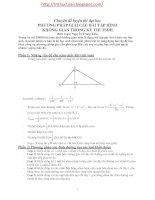 Phương pháp giải nhanh các bài tập hình học không gian