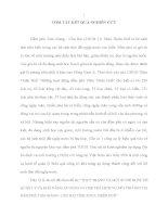 THỰC TRẠNG VÀ MỘT SỐ ĐỀ XUẤT VỀ QUẢN LÝ VÀ KHẢ NĂNG ÁP DỤNG CƠ CHẾ TRẢ DỊCH VỤ MÔI TRƯỜNG TẠI ĐẦM PHÁ TAM GIANG  CẦU HAI TỈNH THỪA THIÊN HUẾ