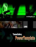 Template PowerPoint Entertainment Music 529TGp filmfestival dark ani