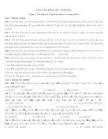 Bài tập tổng hợp Ancol - Phenol