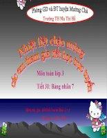 slide tóan 3 -bảng nhân 7 _ trường Th Ma Thì Hồ