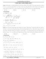 Các bài toán điện xoay chiều hay nhất