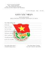 giấy xác nhận đoàn viên