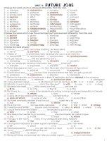 Bài tập trắc nghiệm tiếng anh lớp 12 (Unit 6)