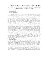 BÀI BÁO CÁO THỰC TẬP-ỨNG DỤNG CÔNG NGHỆ THÔNG TIN VÀ SƠ ĐỒ TƯ  DUY TRONG DẠY HỌC TOÁN 5  GIÚP HỌC SINH KHÁM PHÁ KIẾN THỨC  MỚI