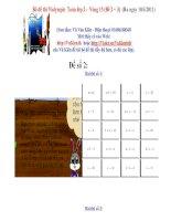 Violympic - Vong 15 Toan2 De 2 + 3 )