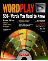 Tài liệu Word Play 550+ words you need to know