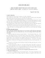 MỘT SỐ BIỆN PHÁP RÈN KỸ NĂNG VIẾT CÂU TRONG PHÂN MÔN   LUYỆN TỪ VÀ CÂU LỚP 2A