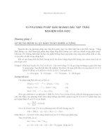 10 phương pháp giải bài tập hóa học