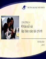 Chương 4 Khóa sổ và lập báo cáo tài chính