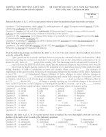 tổng hợp đề thi thử Đại học từ các trường, môn tiếng Anh