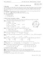 Tiết 57: Kiểm tra chương III