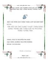 Tiểu luận MÔN HỌC ĐIỆN TOÁN LƯỚI VÀ ĐÁM MÂY TÌM HIỂU VÀ ỨNG DỤNG THUẬT TOÁN SONG SONG TRONG BÀI TOÁN GIẢI HỆ PHƯƠNG TRÌNH TUYẾN TÍNH