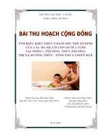 Tìm hiểu kiến thức chăm sóc trẻ sơ sinh của các bà mẹ có con dưới 2 tuổi tại Thôn 1 phường Thủy Phương-Thị xã Hương Thủy-tỉnh Thừa Thiên Huế