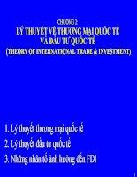 Bài giảng Quản trị kinh doanh quốc tế - Chương 2 Lý thuyết thương mại quốc tế và đầu tư quốc tế