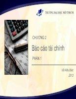 Chương 2 Báo cáo tài chính phần 1 (Môn Nguyên Lý kế toán)