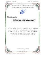 TÌM HIỀU VỀ ĐIỆN TOÁN ĐÁM MÂY VÀ GIẢI QUYẾT VẤN ĐỀ PHÂN TÁN, TÍNH TOÁN SONG SONG