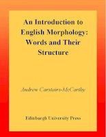 Tài liệu An Introduction to English Morphology