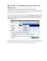 Phần mềm  Firefox 4 bản tiếng Việt
