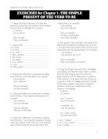Tài liệu Bài Tập Ngữ Pháp Tiếng Anh (dùng kèm sách Ngữ pháp)